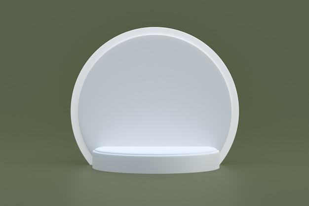 Produktständer, podium minimal auf braunem hintergrund für die präsentation kosmetischer produkte.