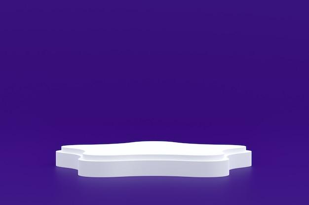 Produktstand, podium minimal auf lila für kosmetische produktpräsentation.