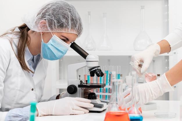 Professioneller forscher im labor