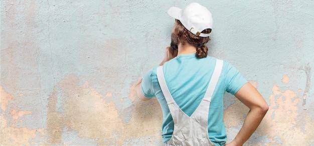 Professioneller maler zurück