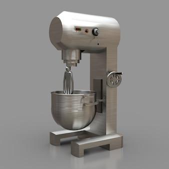Professioneller mixer für restaurants, cafés und konditoreien. 3d-renderings.