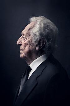 Profil eines alten mannes