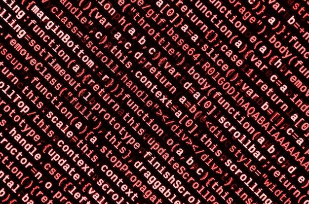 Programmcode auf laptop schreiben