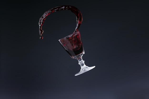 Projektion von rotwein