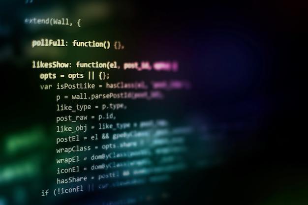 Projektmanager arbeiten neue idee. entwicklung von www-software. entwickler mobiler apps. innovatives startup-projekt. programmiercode der website. it branche.