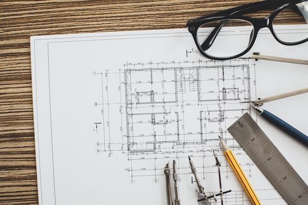 Projektzeichnungen und -werkzeuge, abschluss oben