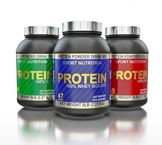 Proteingläser isoliert