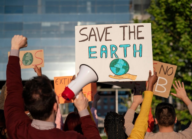 Protest gegen die globale erwärmung hautnah