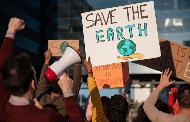 Protest gegen die globale erwärmung