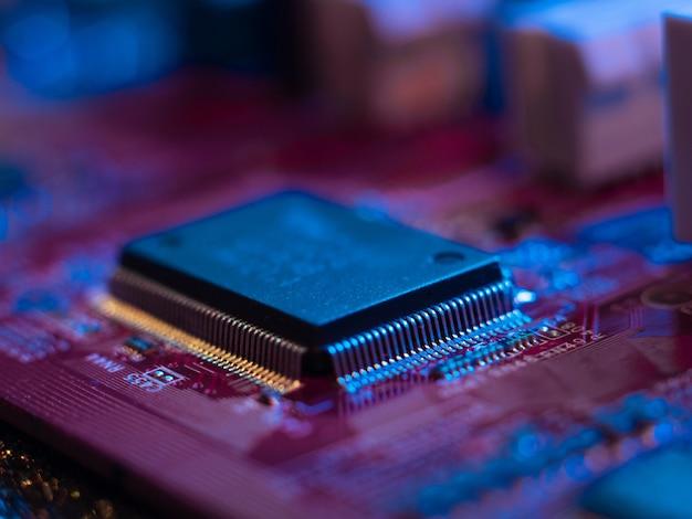 Prozessor- und motherboard-computer-gehirnelemente hochtechnologie