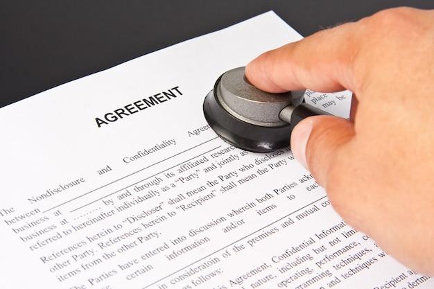 Prüfung der geschäftsvereinbarung