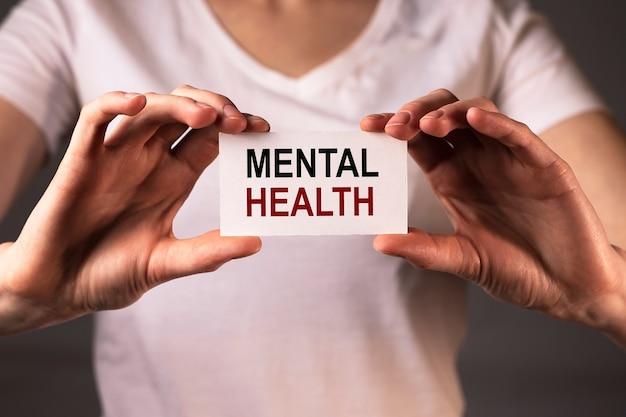 Psychische gesundheit inschrift wort