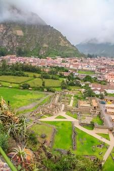 Puca pucara, ruinen der alten inka-festung in cusco, peru