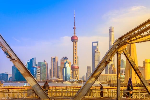 Pudong reise stadt modernen porzellan