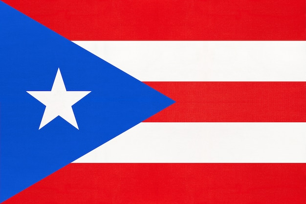 Puerto rico national stoff flagge