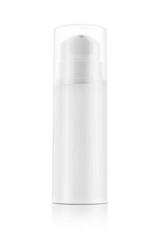 Pumpflasche für die creme und lotion lokalisiert