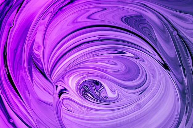 Purpur- und magentawellen bei der verschmelzung von farben. fluid art.-nr. abstrakter marmorhintergrund oder -beschaffenheit.