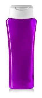 Purpurrote duschgelflasche getrennt auf weiß