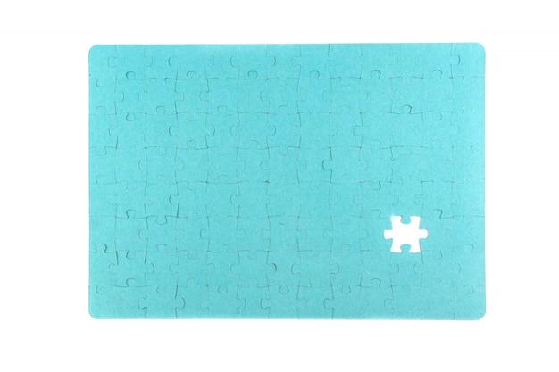 Puzzle auf weißem hintergrund
