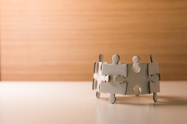 Puzzle-konzept teamarbeit