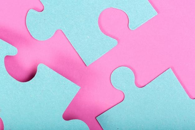 Puzzle-konzept