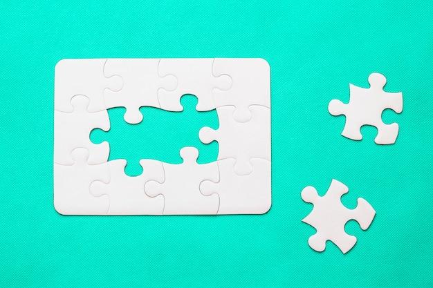 Puzzle mit fehlendem teil