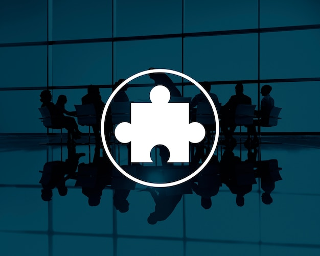 Puzzle-partnerschafts-teamwork-team-konzept