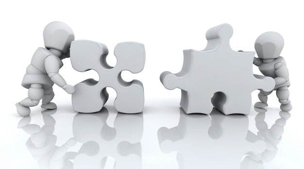Puzzle-stücke, 3d