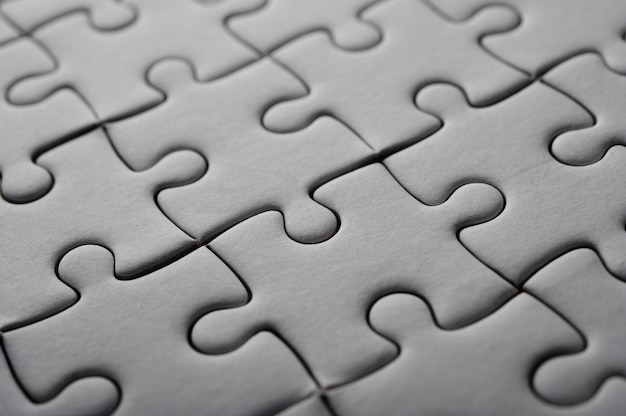 Puzzle weiße farbe, puzzleteile gitter, erfolg.