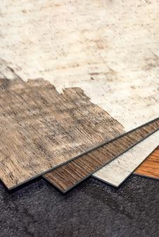 Pvc-vinylbodenproben der vinylbodenkollektion von vinylfliesen heimwerkerartikel