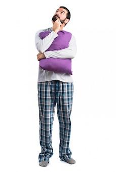 Pyjama-lösung entspannen person wake