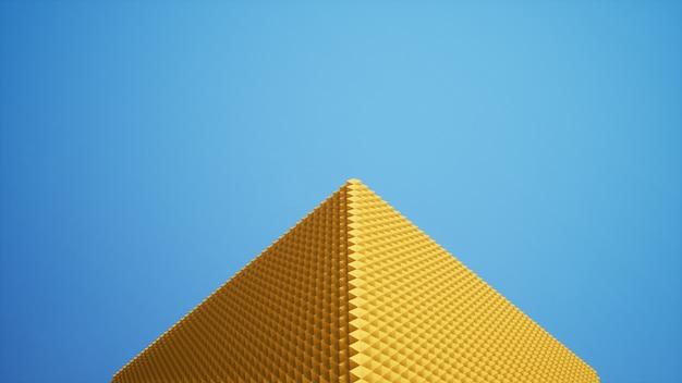 Pyramide auf dem himmelhintergrund