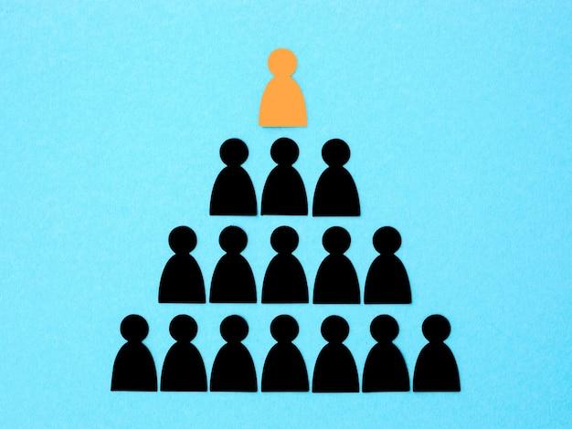 Pyramide mit chef an der spitze