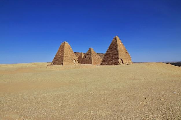 Pyramiden der antike im sudan