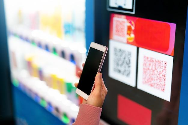 Qr-code-zahlung, online-shopping