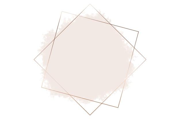 Quadratische abstrakte logo-hintergrundillustration in kupfer auf pastellrosa farbhintergrund