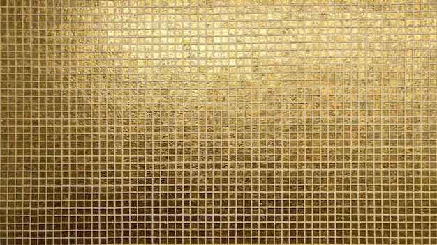 Quadratische textur des goldenen fliesenmusters