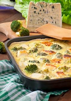Quiche mit brokkoli und feta