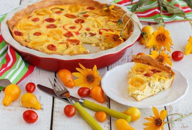 Quiche mit tomaten