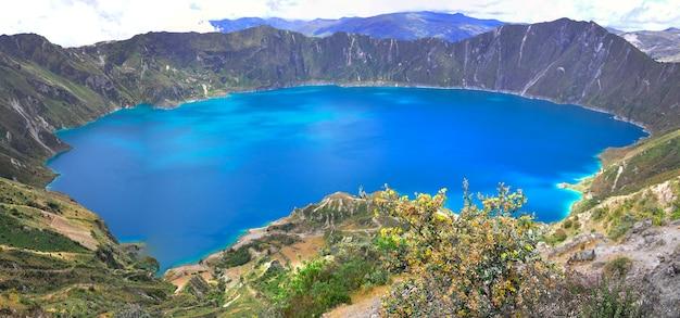 Quilotoa lagune, ecuador