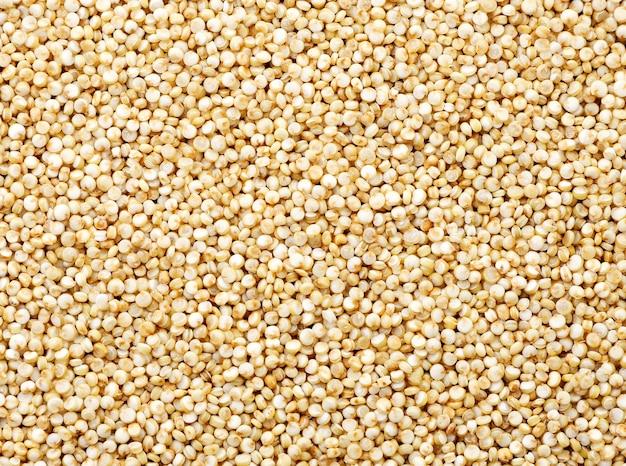Quinoa-samen hautnah, hintergrund. die aussicht von oben