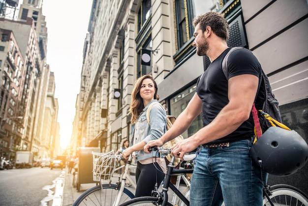 Radfahrer in new york