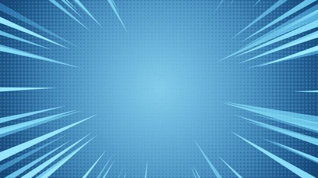 Radialer hintergrund von halbtönen und abstrakten hochgeschwindigkeitslinien