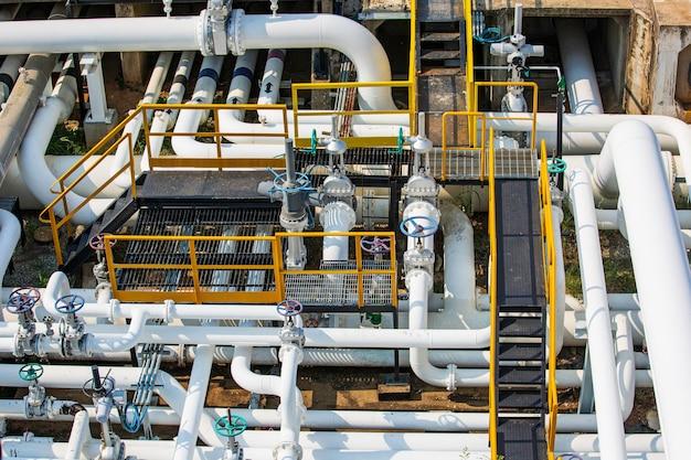 Raffinerieanlagenausrüstung für pipeline-öl- und gasventile an gasanlagen drucksicherheitsventil selektiv Premium Fotos