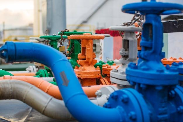 Raffinerieanlagenausrüstung für rohrleitungen in vielen farben, öl- und gasventile an gasanlagendrucksicherheitsventil selektiv