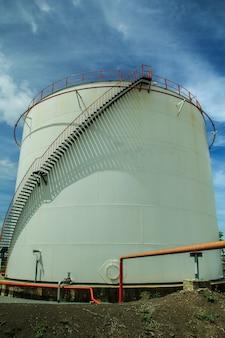 Raffinerieindustrie tankproduktion erdöl und pipeline.