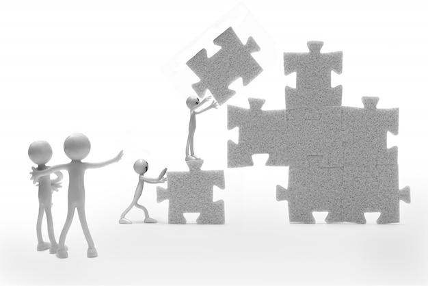 Rag doll gebäude ein puzzle