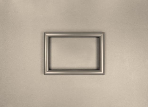 Rahmen an der wand, minimalistisches monochromes foto.