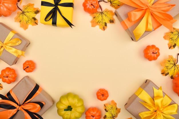 Rahmen aus dem dekor für den halloween-urlaub.