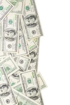 Rahmen aus dollar isoliert